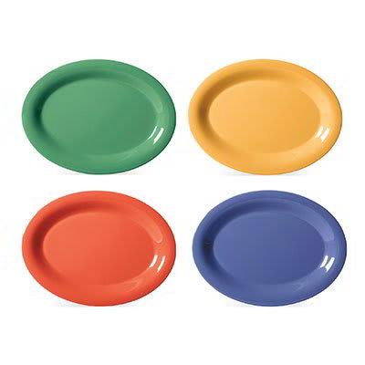 "GET SP-OP-950-MIX Oval Melamine Platter, 9.75 x 7.25"", Diamond Mardi Gras Colors"