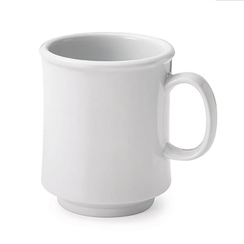 GET SP-TM-1308-W 8-oz Bake & Brew Mug, Stacking, Unbreakable, Plastic Dishwasher Safe, White
