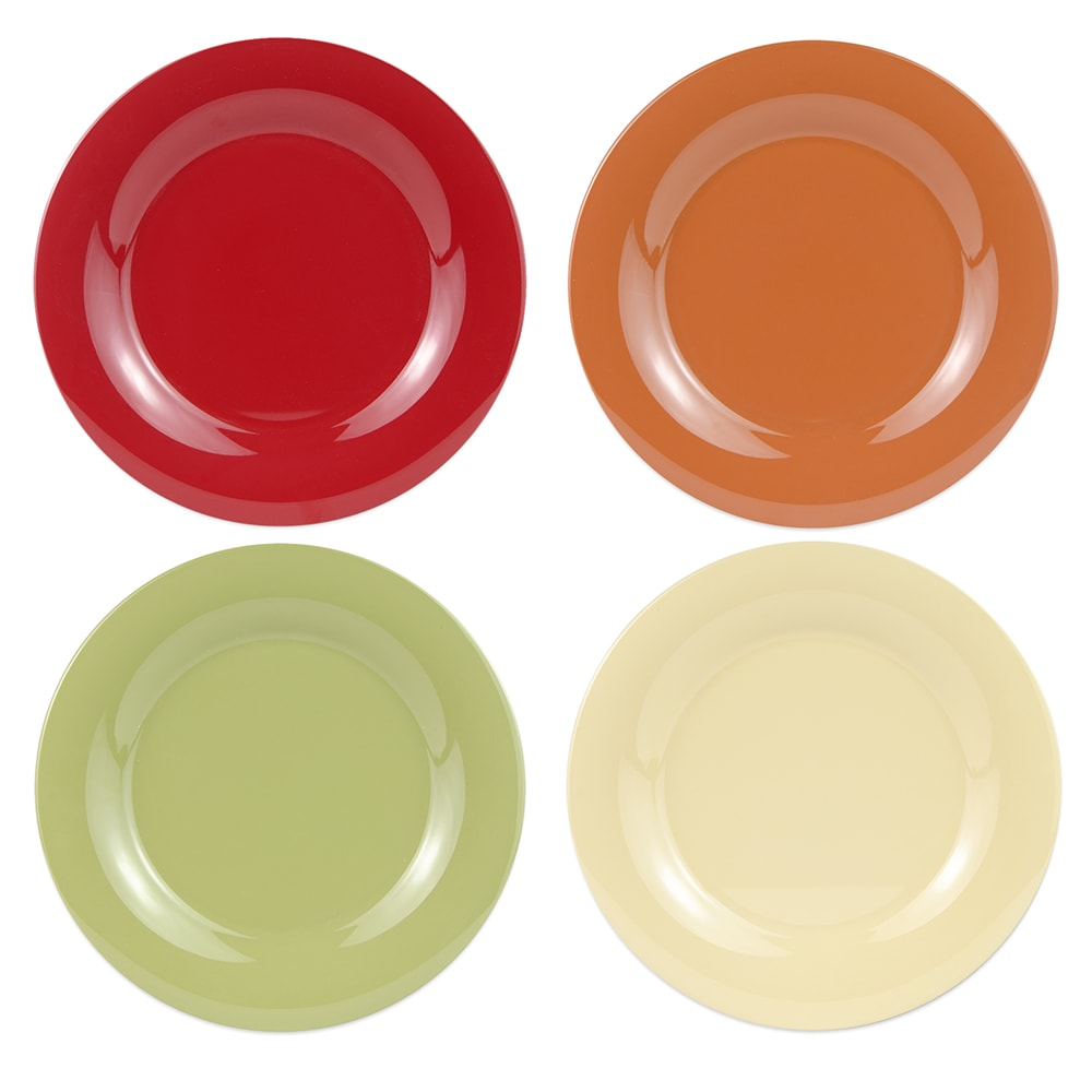 "GET SP-WP-12-COMBO (4) 12"" Round Dinner Plate, Melamine, Multi-Colored"