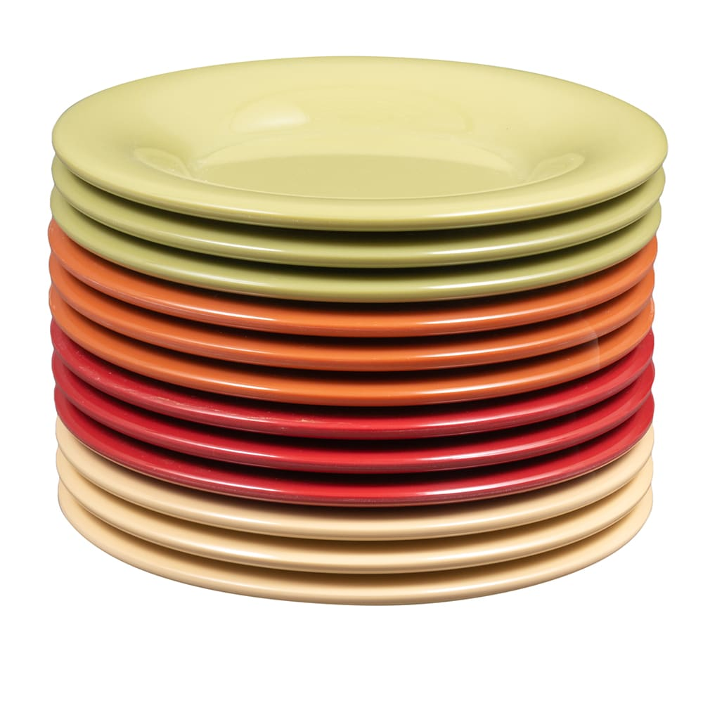 """GET SP-WP-5-COMBO (4) 5.5"""" Round Salad Plate, Melamine, Multi-Colored"""
