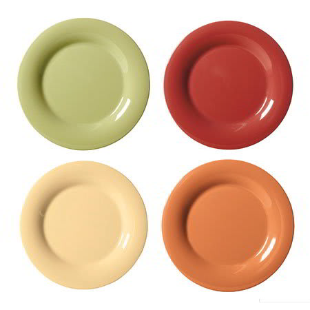 "GET SP-WP-6-COMBO (4) 6.5"" Round Dessert Plate, Melamine, Multi-Colored"