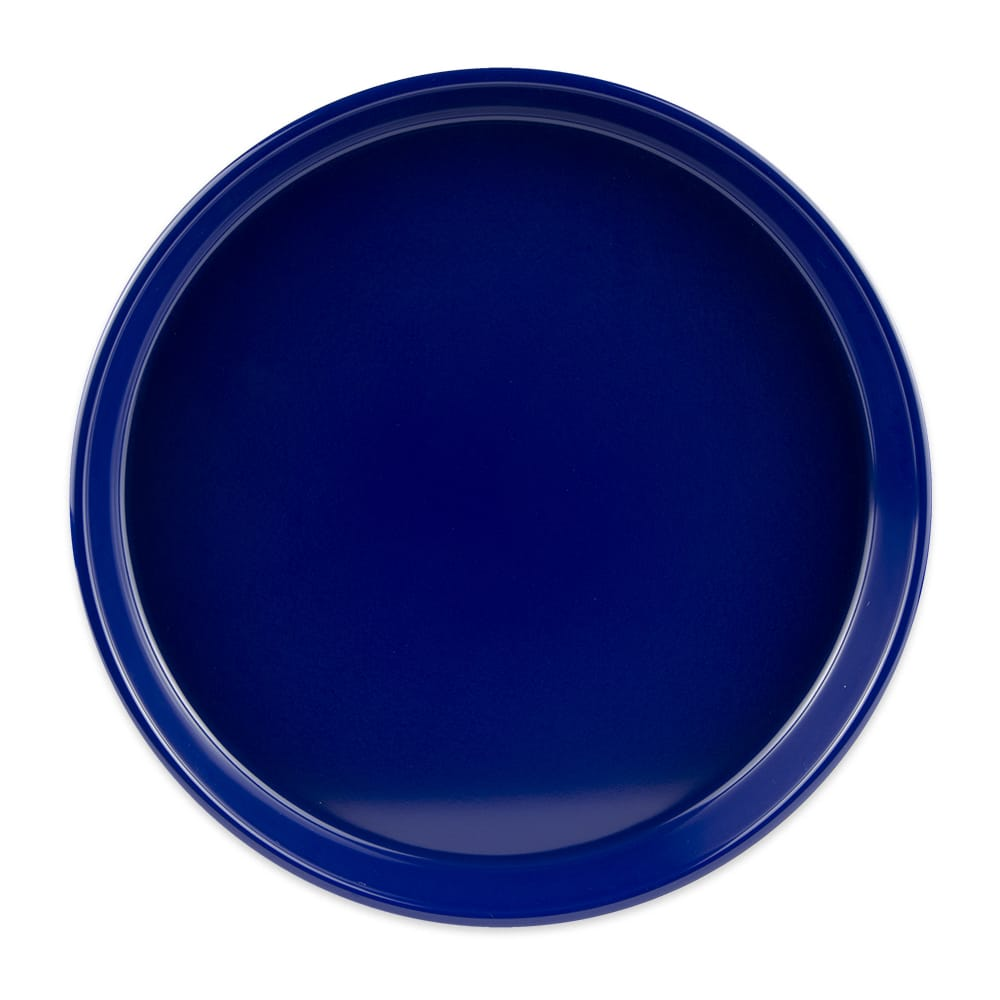 "GET ST-13-CB 13"" Round Bar Tray, Melamine, Blue"