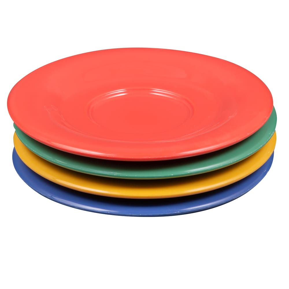 "GET SU-2-MIX (4) 5.5"" Round Saucer, Melamine, Multi-Colored"
