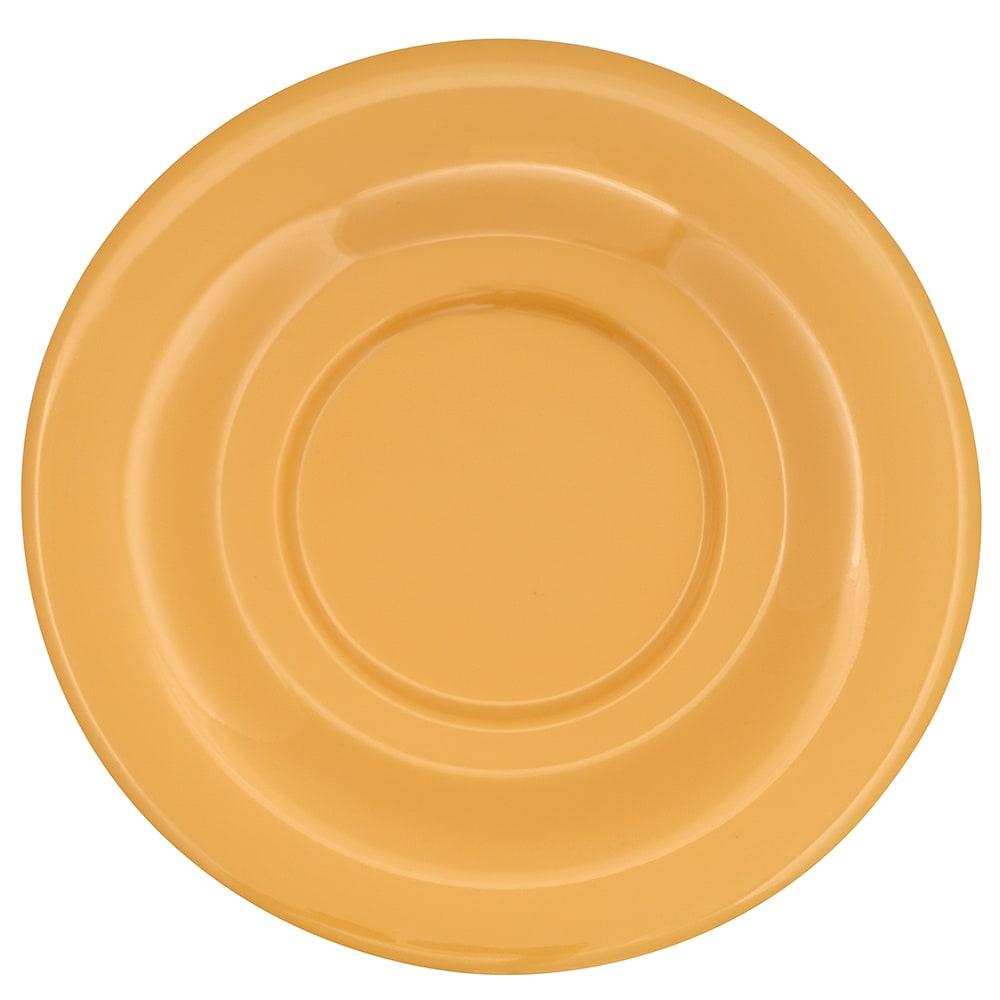 """GET SU-3-TY 5.5"""" Round Saucer, Melamine, Yellow"""