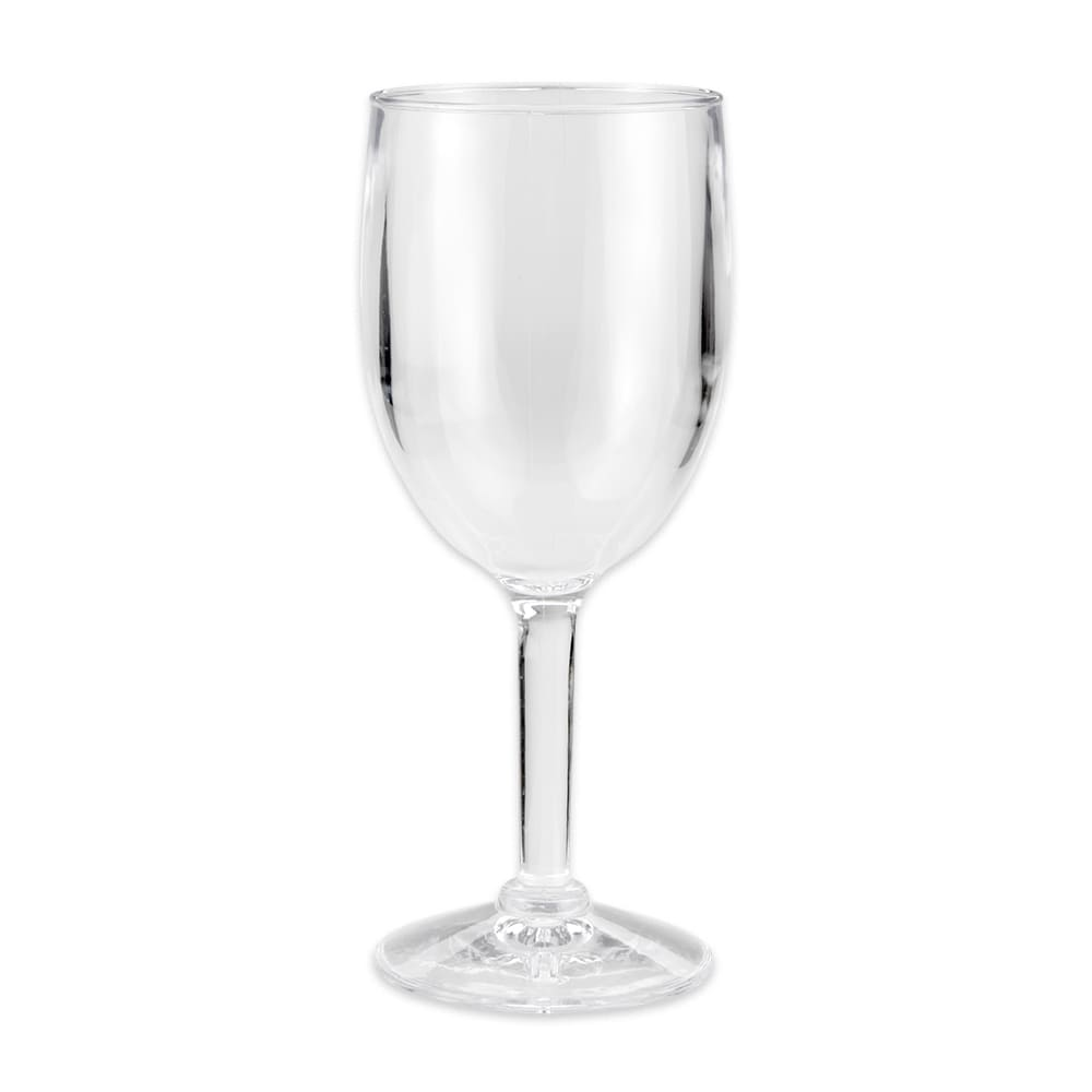 GET SW-1404-1-SAN-CL 8 oz Wine Glass, SAN Plastic, Clear