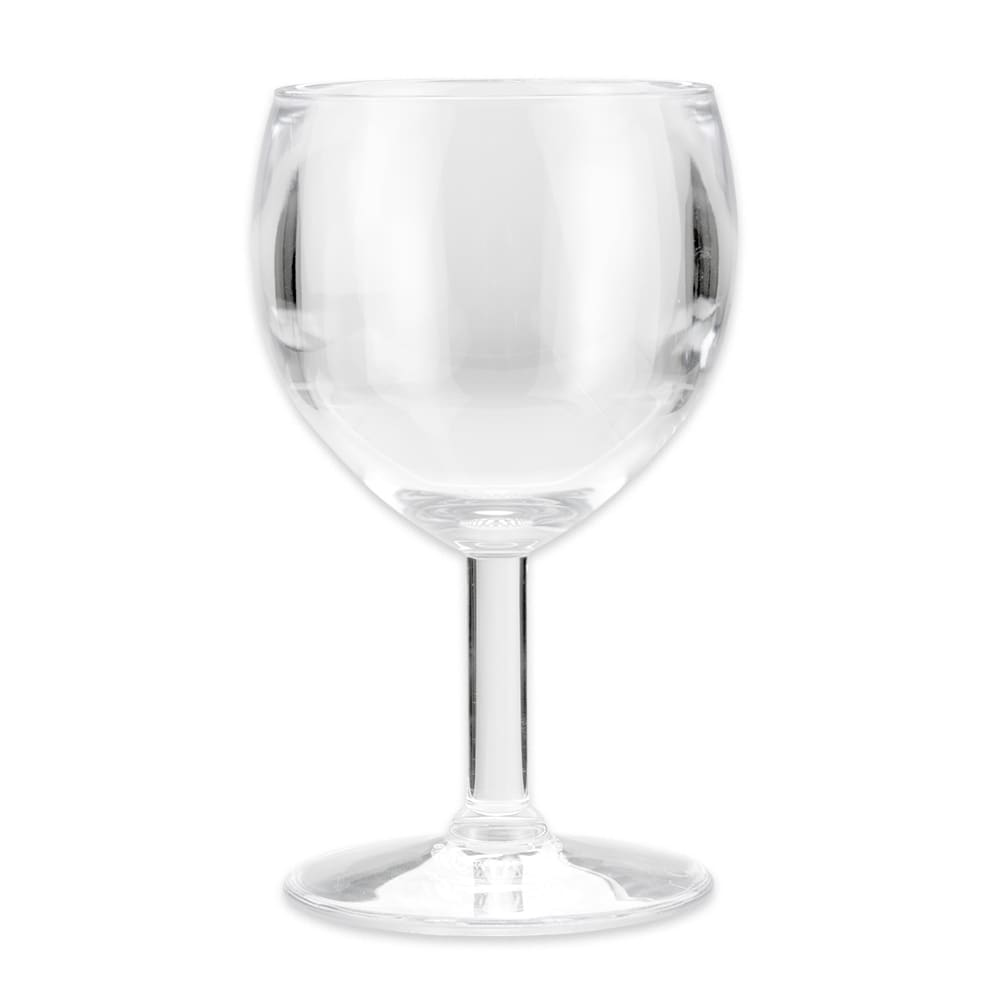 GET SW-1406-1-SAN-CL 6 oz Wine Glass, SAN Plastic, Clear