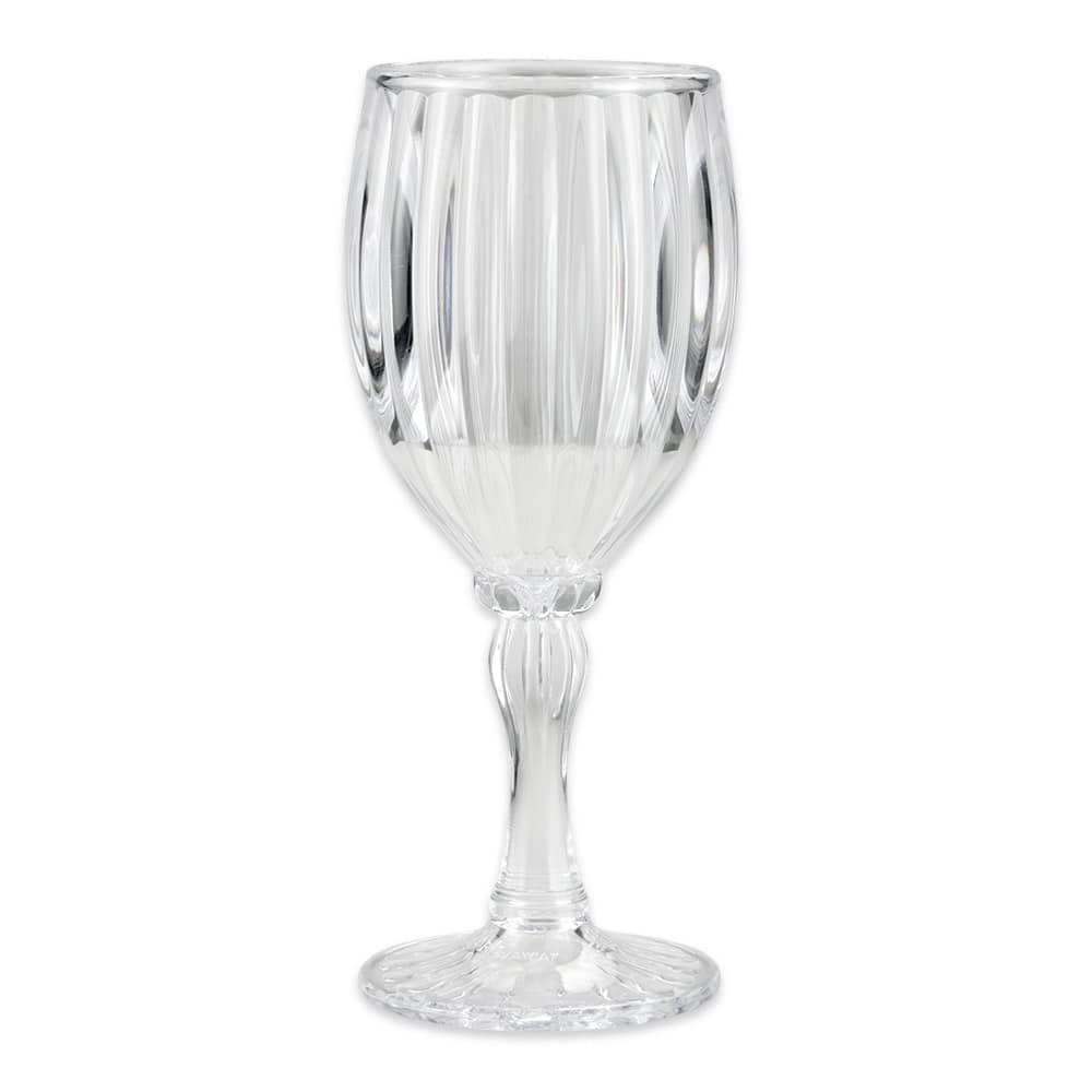 GET SW-1422-1-SAN-CL 8 oz Fluted Wine Glass, SAN Plastic, Clear