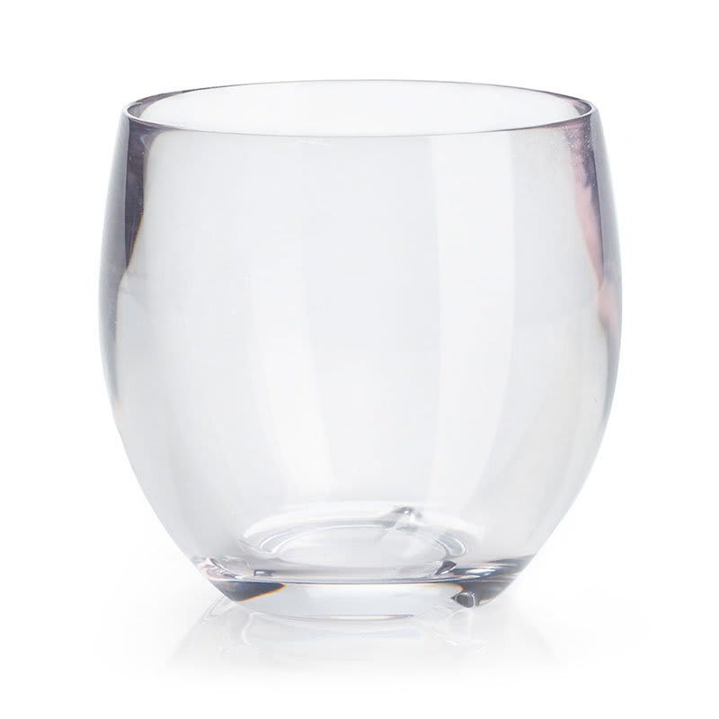 GET SW-1450-CL 8-oz Stemless Wine Glass, Clear Plastic