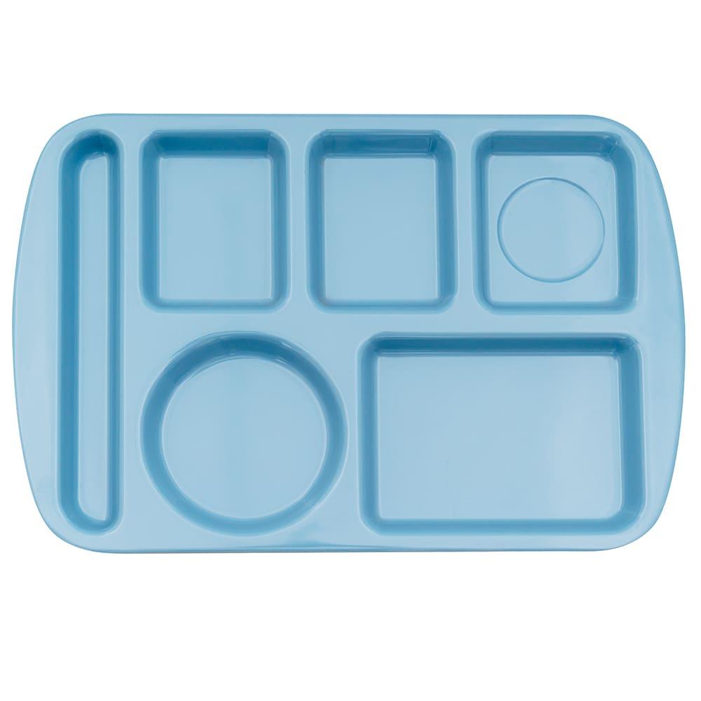 "GET TL-151-FB School Cafeteria Tray w/ (6) Compartments, 14.75"" x 9.5"", Melamine, Blue"