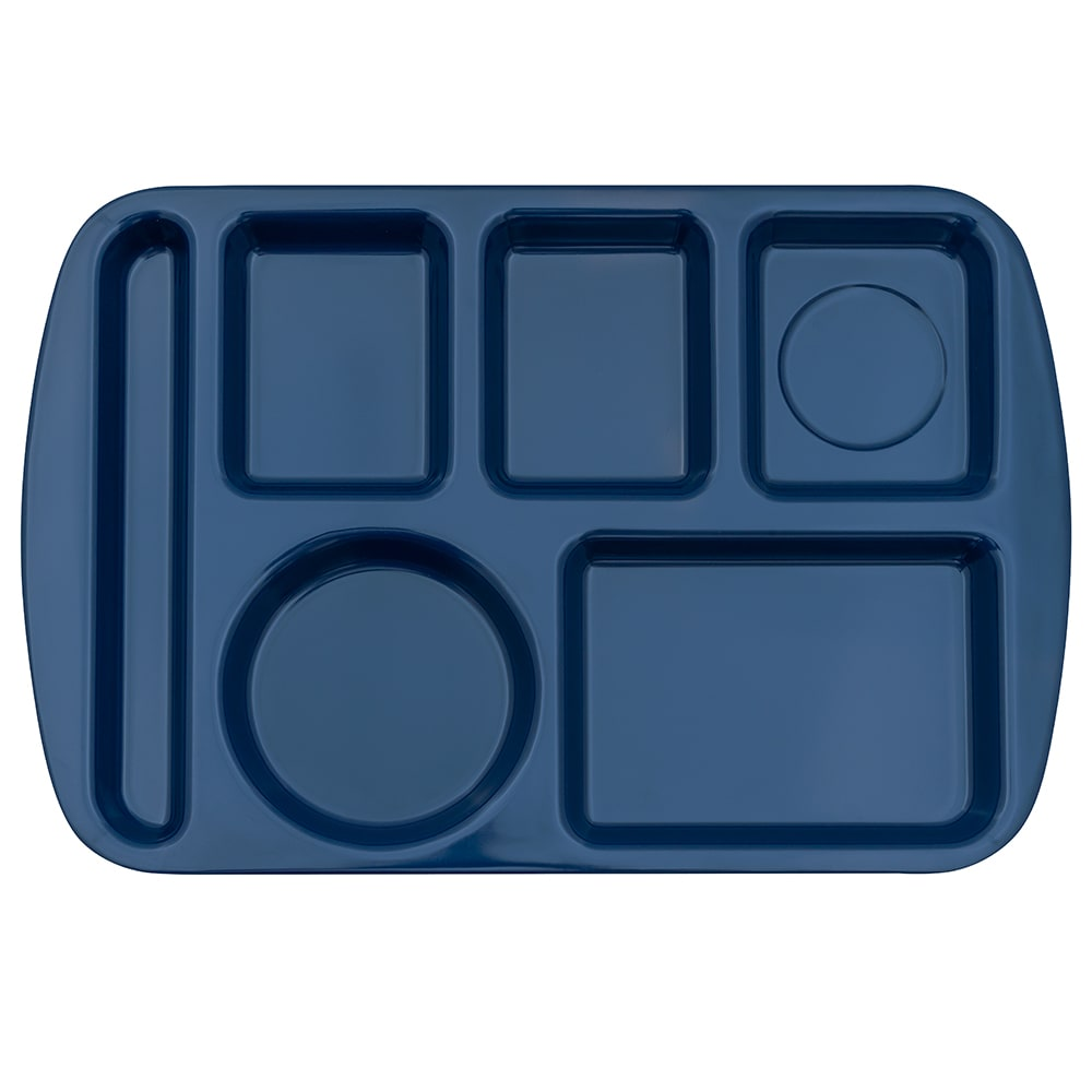 "GET TL-151-NB School Cafeteria Tray w/ (6) Compartments, 14.75"" x 9.5"", Melamine, Blue"