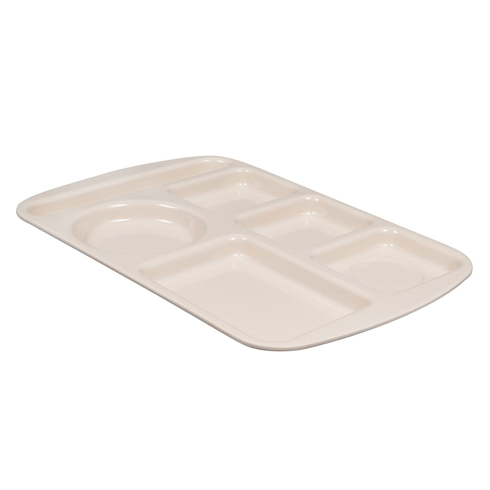 "GET TL-151-T School Cafeteria Tray w/ (6) Compartments, 14.75"" x 9.5"", Melamine, Brown"