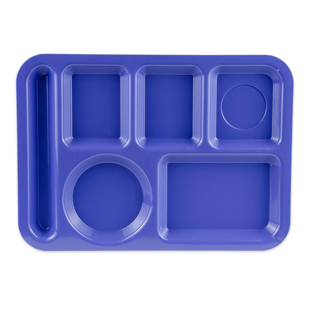 "GET TL-152-PB School Cafeteria Tray w/ (6) Compartments, 14"" x 10"", Melamine, Blue"