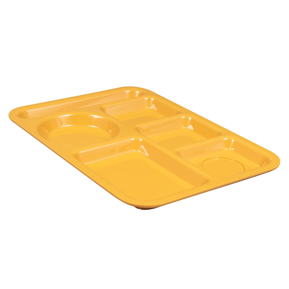 "GET TL-152-TY School Cafeteria Tray w/ (6) Compartments, 14"" x 10"", Melamine, Yellow"