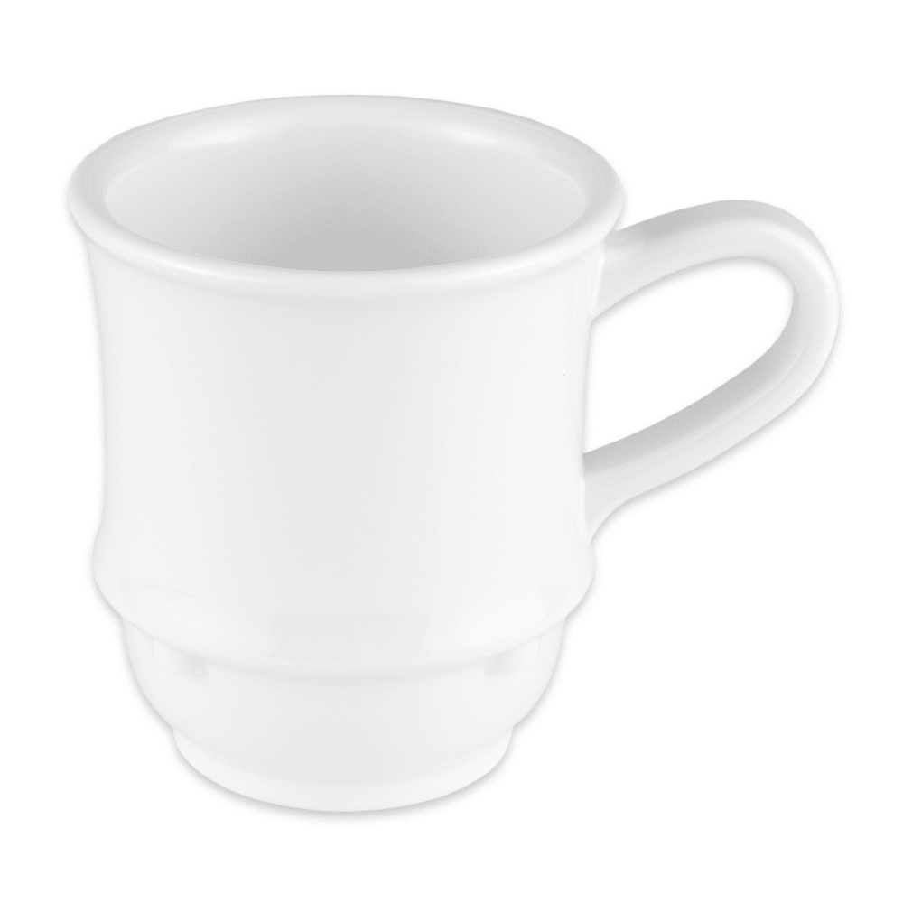 GET TM-1208-W 8-oz Coffee Mug, Plastic, White