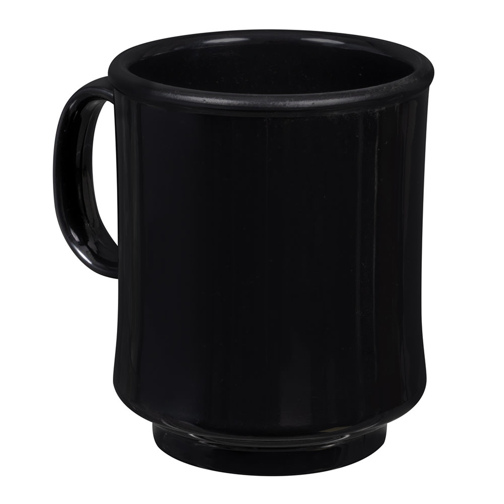 GET TM-1308-BK 8 oz Coffee Mug, Plastic, Black