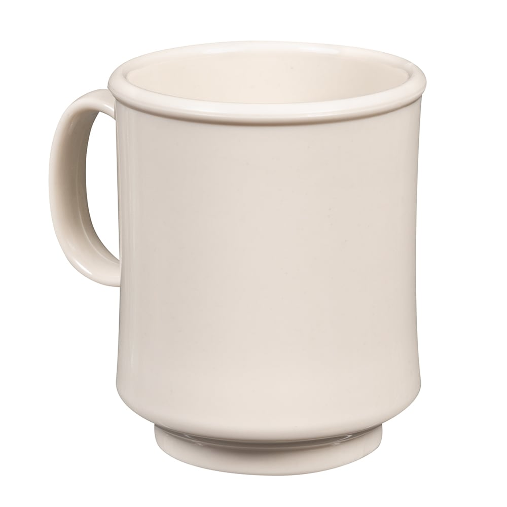 GET TM-1308-IV 8-oz Coffee Mug, Plastic, White