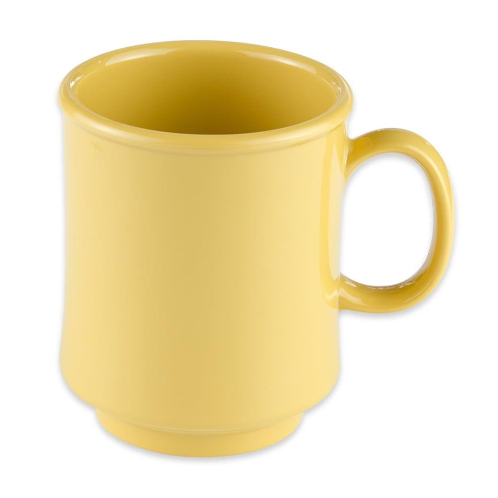 GET TM-1308-TY 8 oz Coffee Mug, Plastic, Yellow