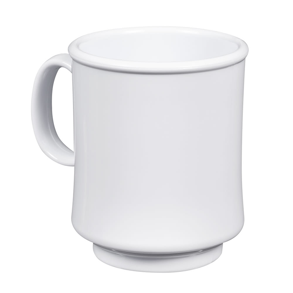 GET TM-1308-W 8-oz Coffee Mug, Plastic, White