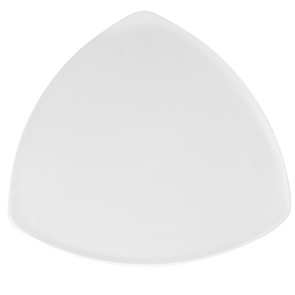 "GET TP-12-DW 12"" Triangular Dinner Plate, Melamine, White"