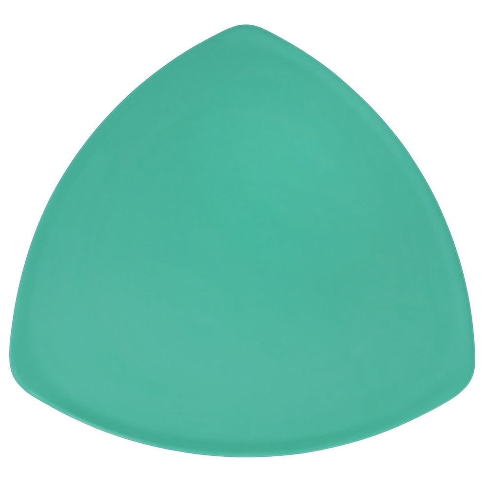 "GET TP-12-FG 12"" Triangular Dinner Plate, Melamine, Green"