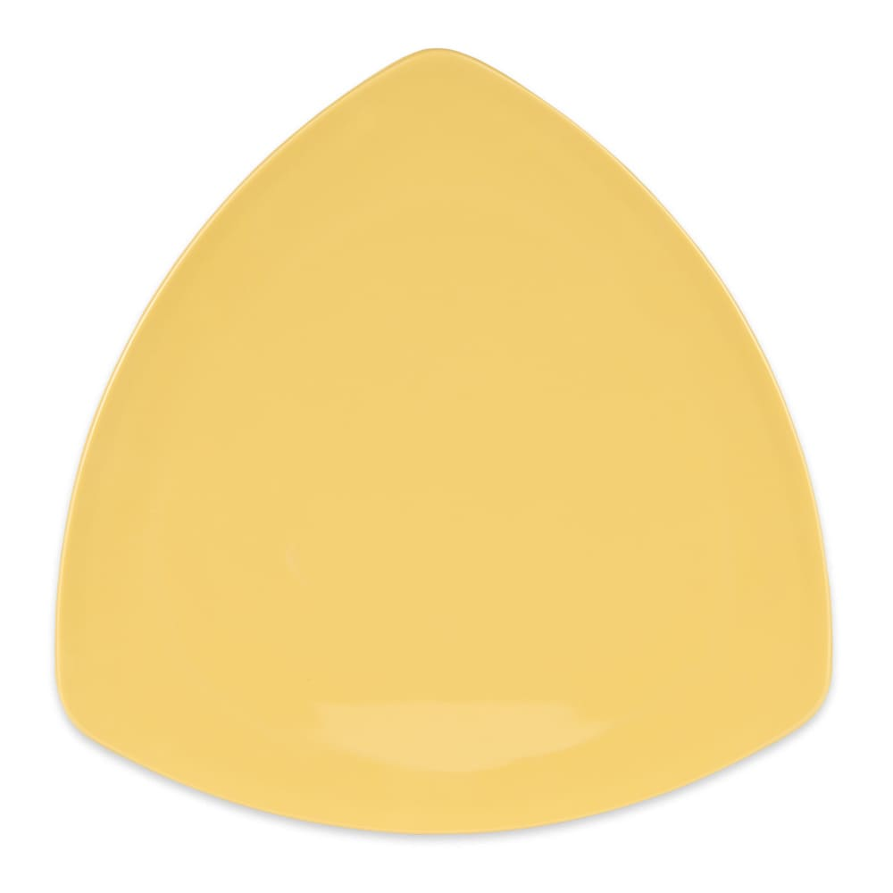 "GET TP-12-TY 12"" Triangular Dinner Plate, Melamine, Yellow"