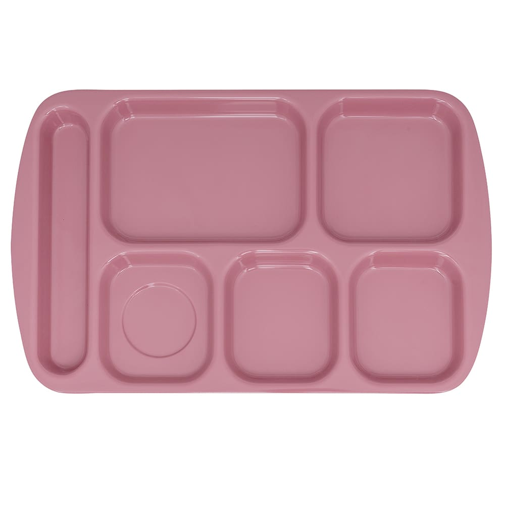 "GET TR-151-MAV School Cafeteria Tray w/ (6) Compartments, 15.5"" x 10"", Melamine, Mauve"