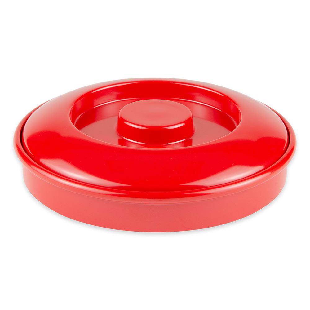 "GET TS-800-R 7.75"" Round Tortilla Server w/ Lid, Melamine, Red"
