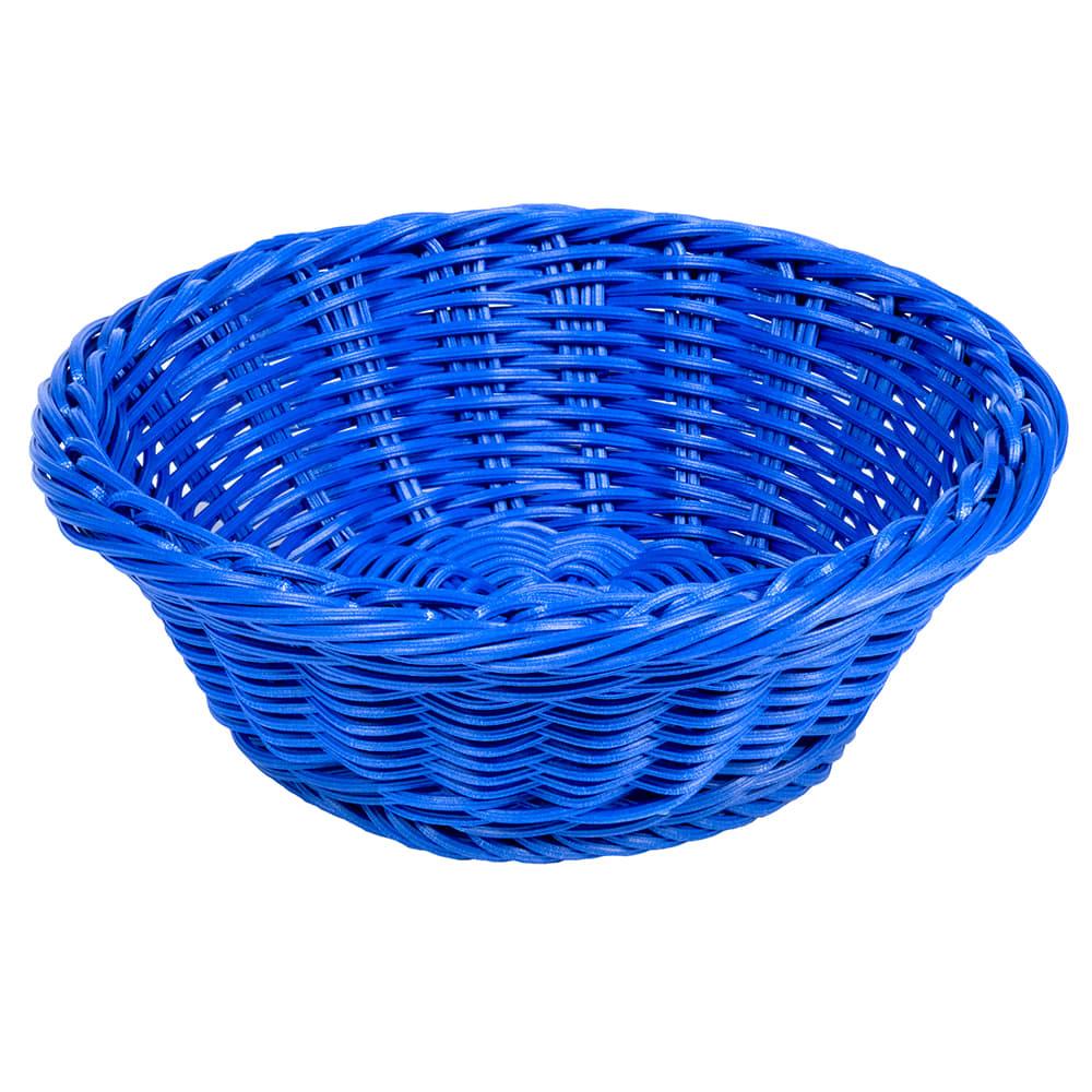 """GET WB-1501-BL 9.5"""" Round Serving Basket, Polypropylene, Blue"""