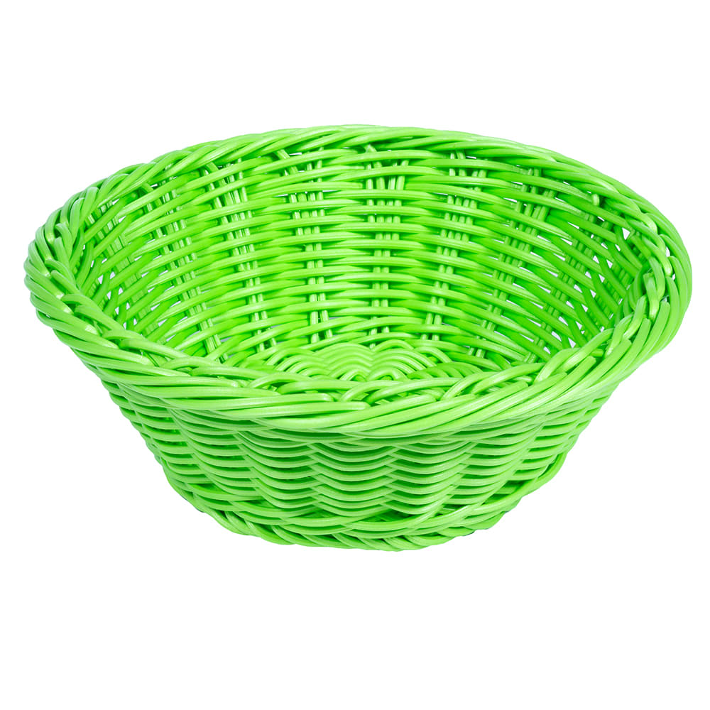"GET WB-1501-G 9.5"" Round Serving Basket, Polypropylene, Green"