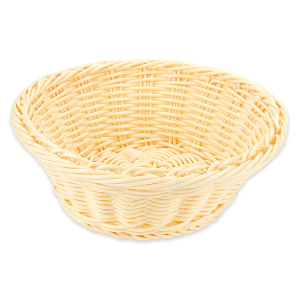 """GET WB-1501-N 9.5"""" Round Serving Basket, Polypropylene, Natural"""