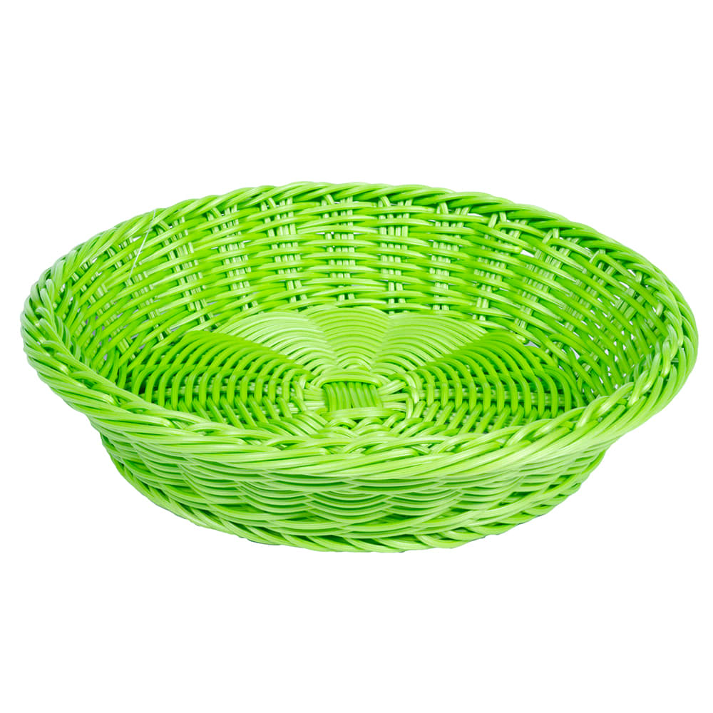 "GET WB-1502-G 11.5"" Round Serving Basket, Polypropylene, Green"