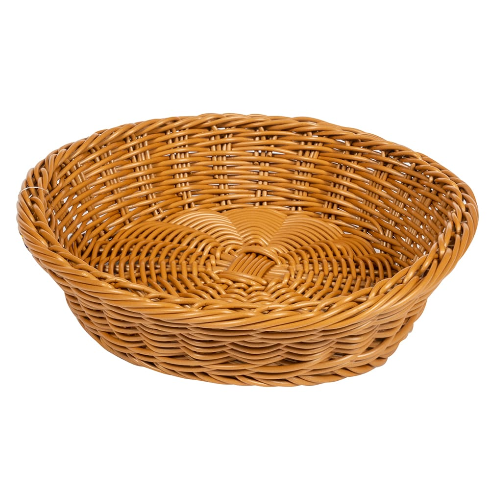 "GET WB-1502-HY 11.5"" Round Serving Basket, Polypropylene, Honey"