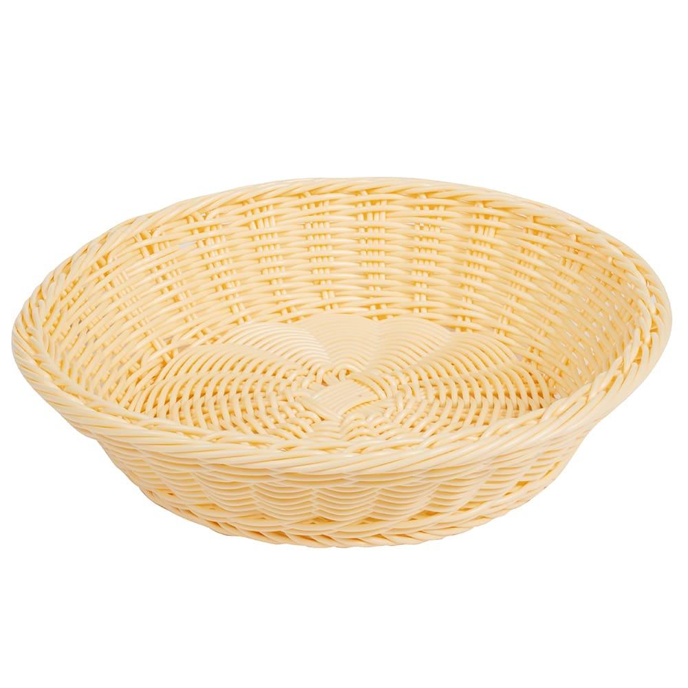 """GET WB-1502-N 11.5"""" Round Serving Basket, Polypropylene, Natural"""