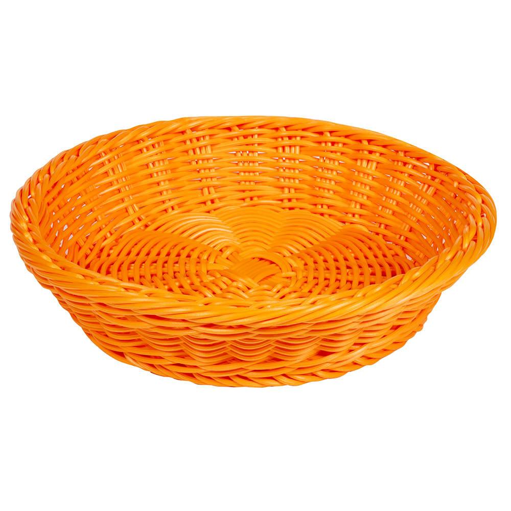 """GET WB-1502-OR 11.5"""" Round Serving Basket, Polypropylene, Orange"""