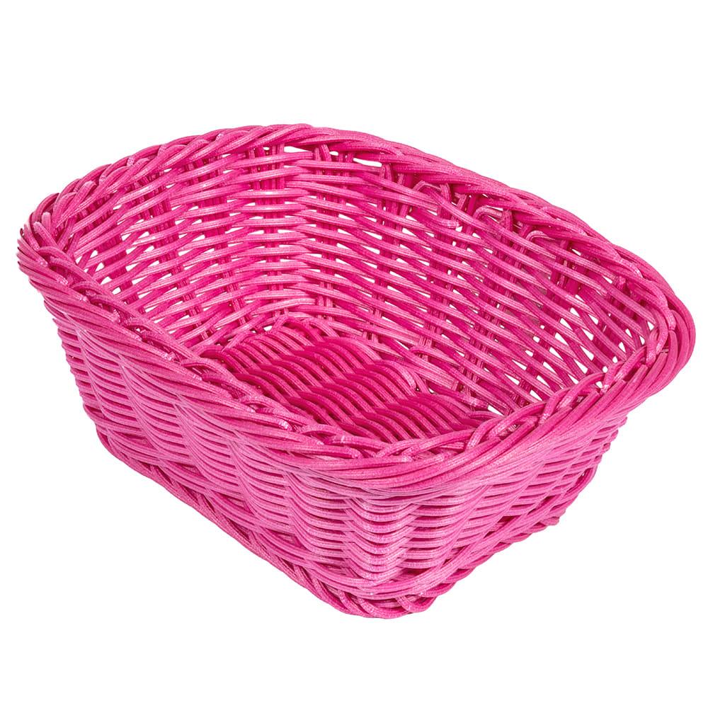 "GET WB-1506-PI Oval Bread & Bun Basket, 9.5"" x 7.75"", Polypropylene, Black"