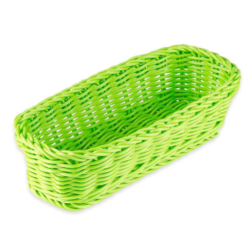 """GET WB-1507-G Rectangular Bread Basket, 10"""" x 4.75"""", Polypropylene, Green"""