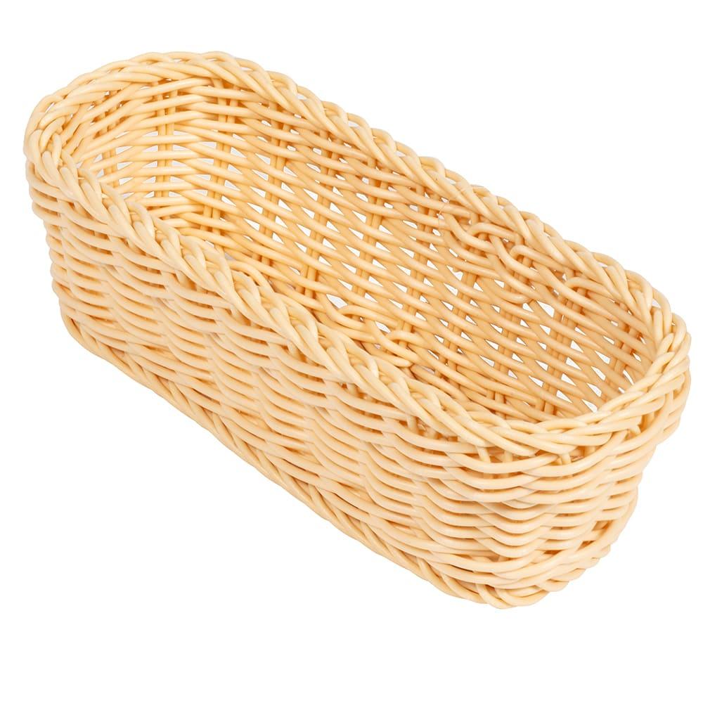 "GET WB-1507-N Rectangular Bread Basket, 10"" x 4.75"", Polypropylene, Natural"