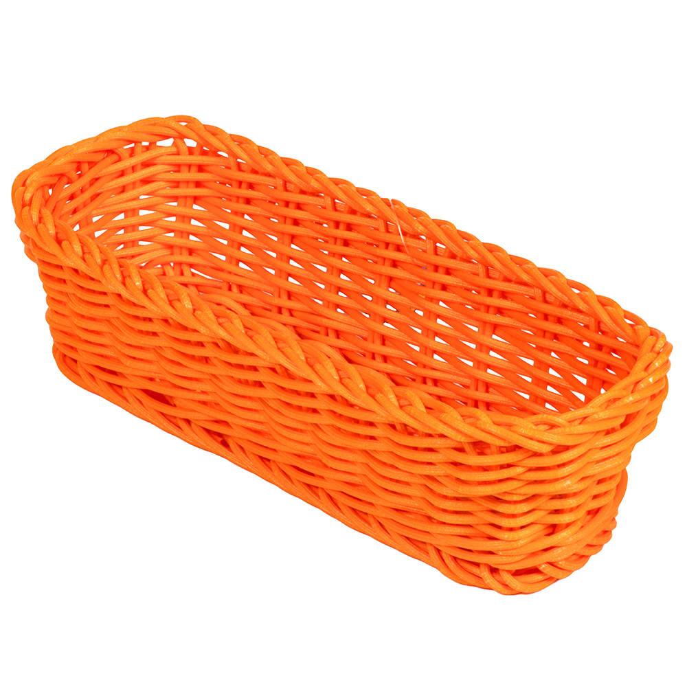 """GET WB-1507-OR Rectangular Bread Basket, 10"""" x 4.75"""", Polypropylene, Orange"""