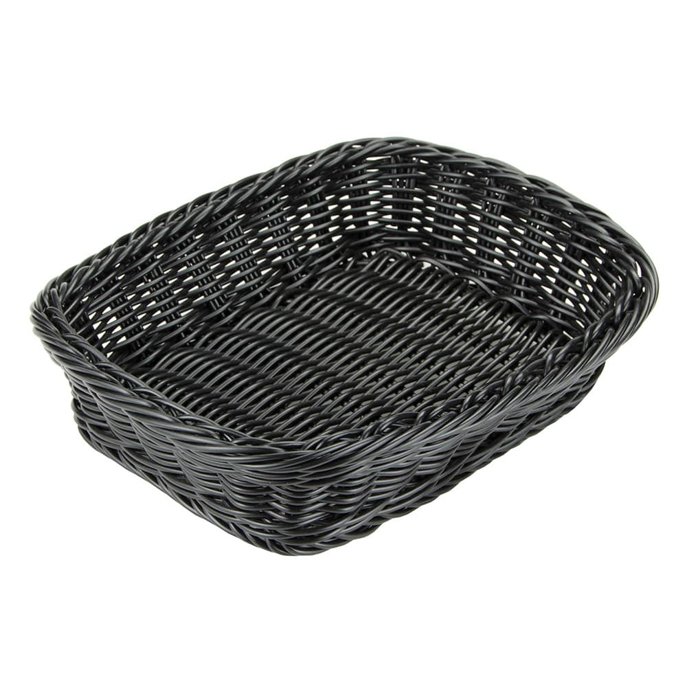"GET WB-1508-BK Rectangular Bread & Bun Basket, 11.5"" x 8.5"", Polypropylene, Black"