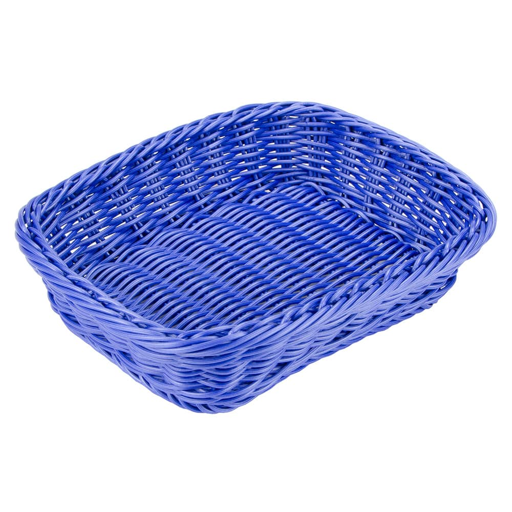 "GET WB-1508-BL Rectangular Bread & Bun Basket, 11.5"" x 8.5"", Polypropylene, Blue"