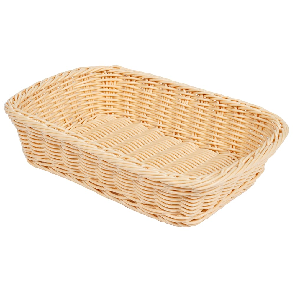 "GET WB-1508-N Rectangular Bread & Bun Basket, 11.5"" x 8.5"", Polypropylene, Natural"