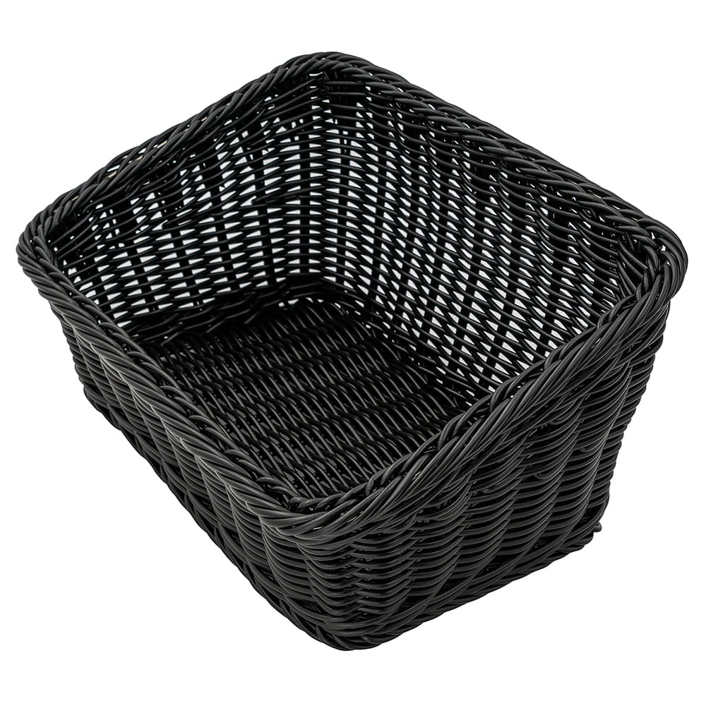 "GET WB-1510-BK Rectangular Bread & Bun Basket, 9.25"" x 13"", Polypropylene, Black"