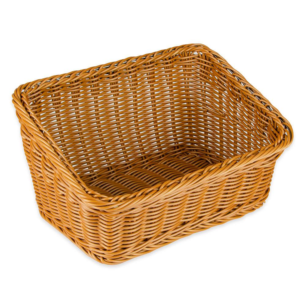 "GET WB-1510-HY Rectangular Bread Basket, 9.25"" x 13"", Polypropylene, Honey"