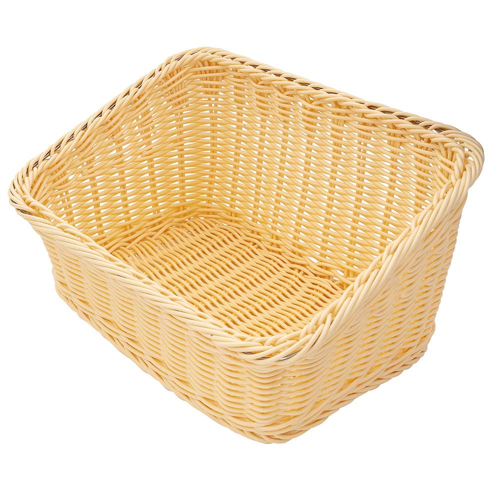 "GET WB-1510-N Rectangular Bread & Bun Basket, 9.25"" x 13"", Polypropylene, Natural"