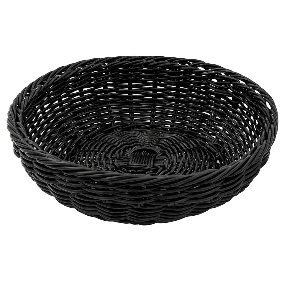 "GET WB-1512-BK 11.5"" Round Bread Basket, Polypropylene, Black"