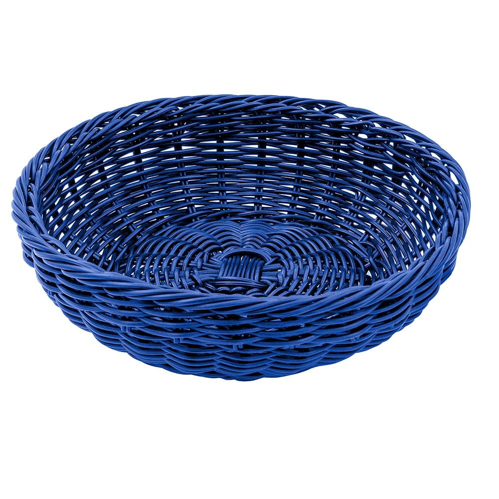 "GET WB-1512-BL 11.5"" Round Bread Basket, Polypropylene, Blue"