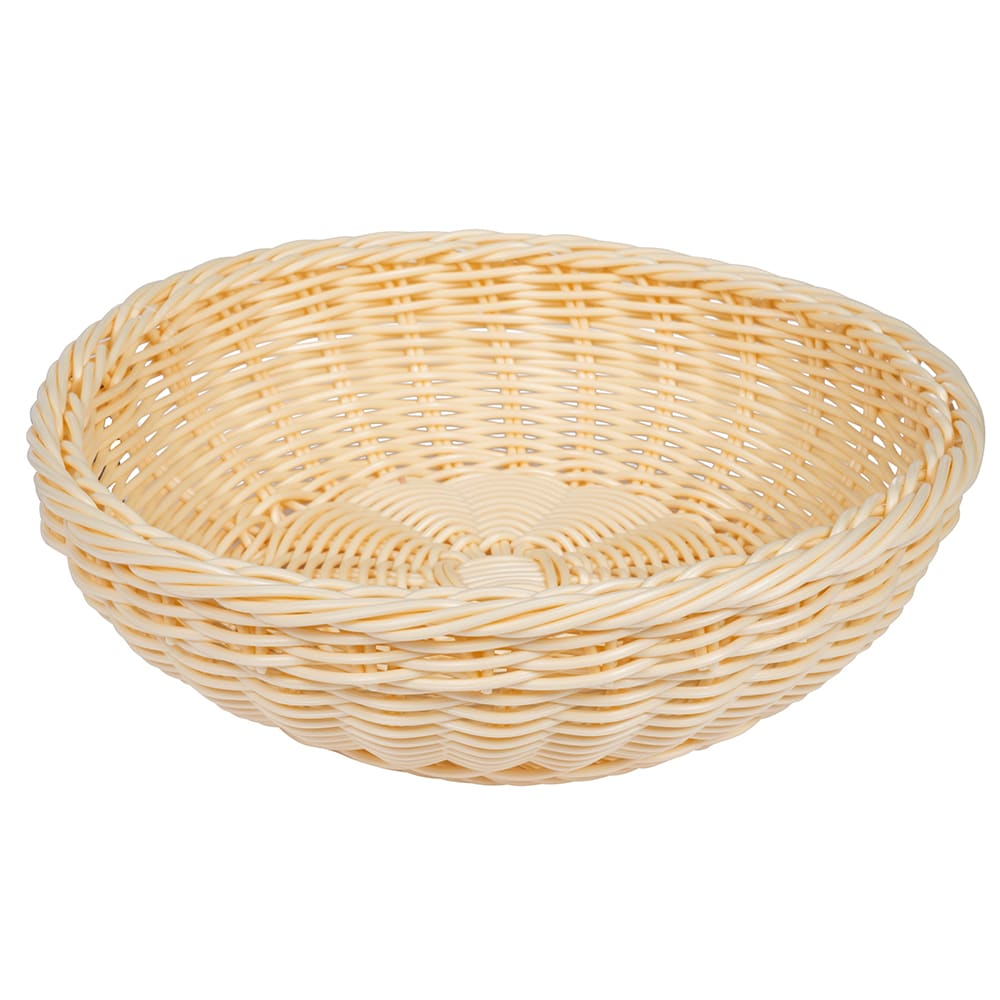 "GET WB-1512-N 11.5"" Round Bread Basket, Polypropylene, Natural"
