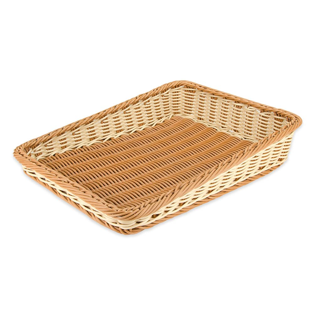 "GET WB-1514-TT Rectangular Bread & Bun Basket, 23.5"" x 17.5"", Polypropylene, Two-Tone"