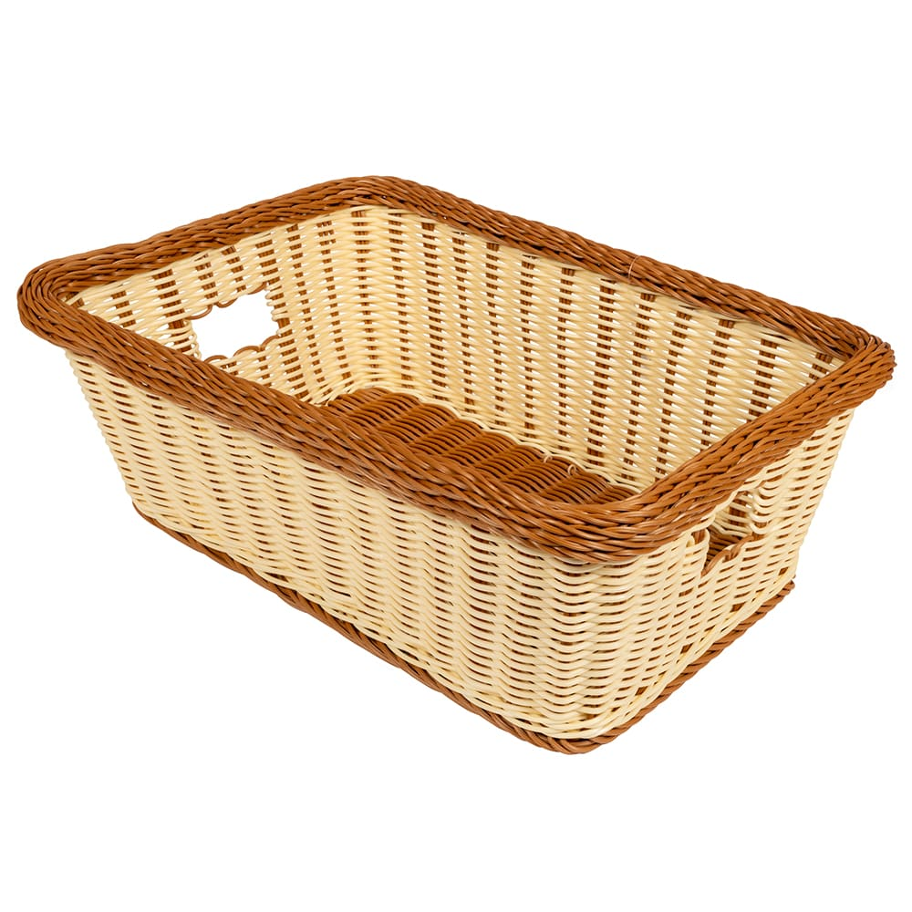 "GET WB-1515-TT Rectangular Bread & Bun Basket, 18.5"" x 13.5"", Polypropylene, Two-Tone"