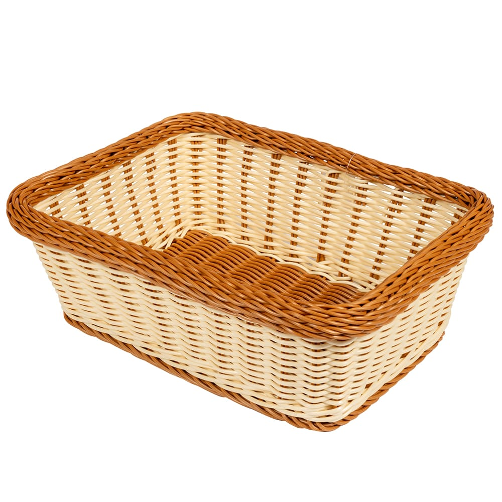 "GET WB-1518-TT Rectangular Bread & Bun Basket, 15"" x 11"", Polypropylene, Two-Tone"